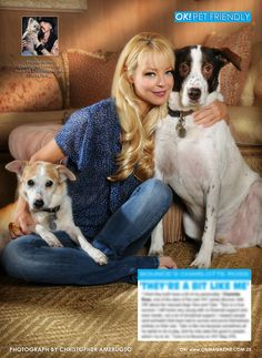 Today in my OK! Pets page in OK! magazine I feature the very beautiful Charlotte Ross and her two beautiful rescues Taco and Tyler. Charlotte is a wonderful animal rights supporter and has always been there for the animals. Pick up a copy today on stands. :)