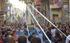 The 'Faradda di li Candareri' a popular festival held in Sassari on August 14 2016: http://www.carrentalinsardinia.com/blog/sassari-descent-candelieri/
