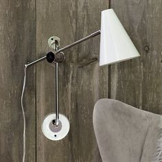 This would be lovely on either side of the bed for reading lights. I love the modern industrial feel. Because, secretly, I am probably a hipster.
