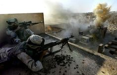 US Forces operating in Ramadi, Iraq (2006). Images include US Navy SEALs from ST3, US Army soldiers from the 101st Airborne Division and US Marines.