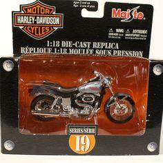 1977 Harley-Davidson FXS Low Rider Grey/Silver Maisto 1:18 Series 19 Die-Cast