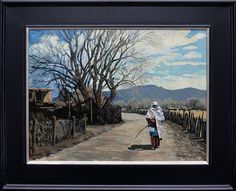 """Taking a Stroll on Quesnel St by Robert Daughters 18"""" x 24"""" oil Meyer Gallery"""