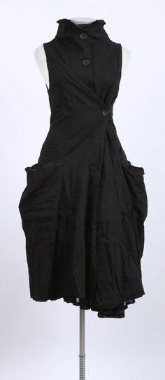 mo koshji - Kleid Ärmellos Baumwolle Seide Mix black - stilecht - mode für frauen mit format...