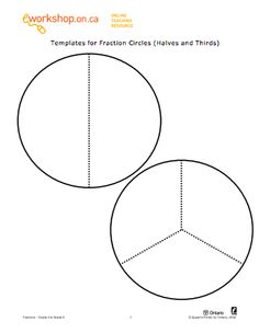 Here's a large set of ready-made fraction circles for one