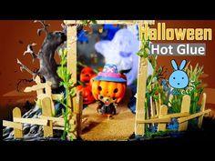 Halloween Chopper Run away Pumpkin Ghost | Awesome Hot Glue DIY Life Hac...