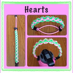 """Another paracord handle for Hydro flasks....I call this one """"HEARTS"""" $8 here on Kauai! Collyne808 808 635 9337"""