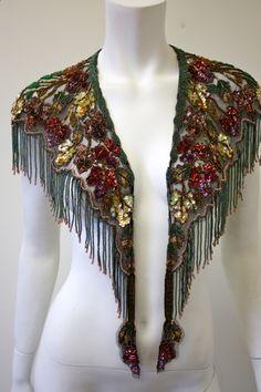 beaded 20s inspired shawl