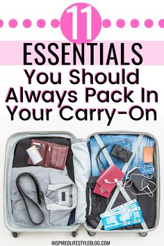 All travel can be stressful, I'm sharing with you how to make the perfect carry on bag by sharing what to pack in a carry on and what airport essentials you need next time you travel! #travel #traveltips travel tips airplane, travel hacks, carry on essentials, carry on packing list, what to pack in carry on, airport hacks, airport travel hacks #TravelTipsAirplane #TravelHacks #CarryOnEssentials #CarryOnPackingList #WhatToPackInCarryOn #AirportHacks #TravelTips #AirportTravelHacks Carry On Bag Essentials, Carry On Packing, Packing Tips For Vacation, Travel Packing, Travel Essentials, Traveling Tips, Packing Lists, Vacation Travel, Airline Travel