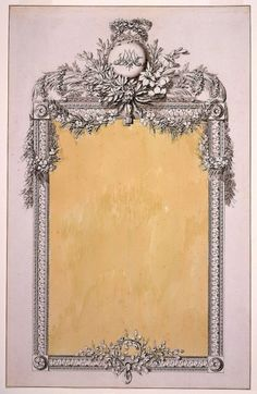 Design for a Mirror Frame with the Monogram of Marie-Antoinette, 1780-96.