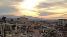sunset over Volubilis, Morrocco