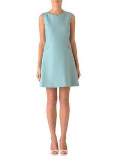 So very french.....Robe trapèze Turquoise - Tara Jarmon - Boutique en ligne TARA JARMON