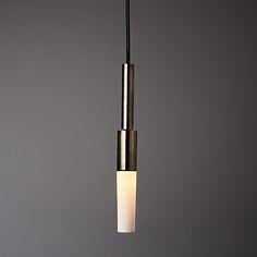 I-O-N _I_ Pendant_ Porcelain_Ex Luxe platinum_ Translucent shade.