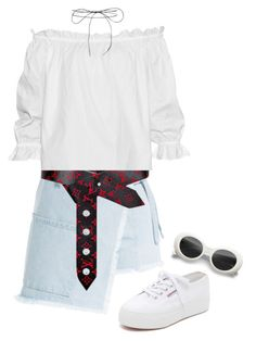 """Untitled #121"" by lrnrmstrn ❤ liked on Polyvore featuring Superga, Sandy Liang, Louis Vuitton, Isolda and Lilou"