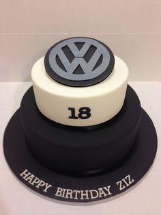VW logo 18th birthday cake made by @sweetsbysuzie Melbourne