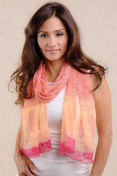Sheela Chiffon Scarf - Sevya Fair Trade Wholesale