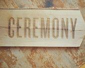 Birch Wood Ceremony Arrow Sign for Rustic Wedding