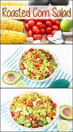 This Roasted Corn Salad is my summertime favorite!! www.joyineveryseason.com