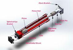 Hydraulic Cylinder (hydraulic1) on Pinterest