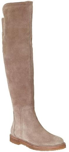 Vince Coleton beige tall suede boots