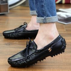 2015 Hot sale summer men s leather loafers slip on sport driving boats  shoes fashion casual breathable moccasins flats e9fd5b6dbe9