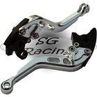 Short Silver Alloy Adjustable GP Brake & Clutch Levers Triumph America 865 06-15