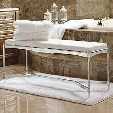 Bath Benches & Stools - Vanity Bench - Shower Stool - Bath Stools - Frontgate