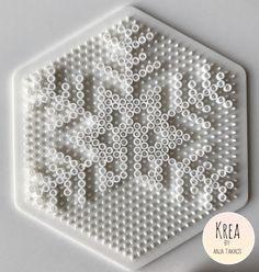 Perlerier for store & små Hama Beads Design, Hama Beads Patterns, Beading Patterns, Hama Beads Christmas, Christmas Crafts, Fuse Beads, Pearler Beads, Bead Crafts, Diy And Crafts