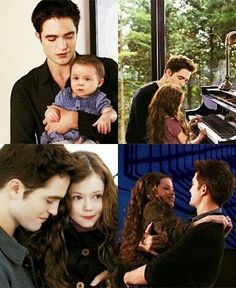 Growing Renesmeé with her Dad Edward Cullen in scenes from The Twilight Sagas Breaking Dawn 2.