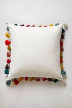 Firenze Velvet Tassel Pillow anthropologie.com  Tassel Colors: white, light blue, yellow, teal, purple/mauve, light pink, gold, magenta
