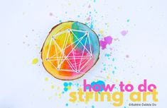 Learn how to do string art at two different scales (GIANT and mini) and use it as an opportunity to teach kids about geometry & levers. Yarn Projects, Crafty Projects, Projects For Kids, Top Toys For Girls, Babble Dabble Do, Art Lessons For Kids, Math Art, Teaching Art, String Art