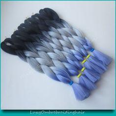 Grey PurpleBlue hyacinthine Ombre | Hair Care