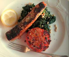 Herkkusuun lautasella-Ruokablogi: Lohta ja pinaattia paastopäivänä