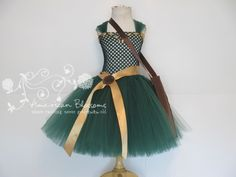 Merida Costume Tutu Dress  Girls Toddler Brave by AmericanBlossoms