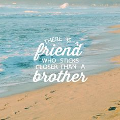 There are friends who destroy each other but a real friend sticks closer than a brother. (Proverbs 18:24 NLT) #scripture4atm