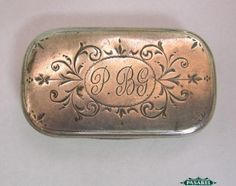 Paula & David Ben-Gurion Estate Silver Snuff / Pill Box