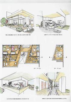 Cheap Home Decorating Sites Architecture Concept Drawings, Architecture Sketchbook, Architecture Plan, Interior Architecture, Interior Design Presentation, House Sketch, Clinic Design, Interior Sketch, Santa Lucia