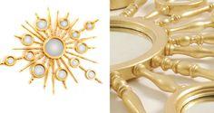 9 Sommertrends von Goldspiegel | Gold Spiegel - Apollo von Boca do Lobo | Aus Holz gemacht, mit Blattgold finish. | http://wohn-designtrend.de/ | #goldspiegel #wohnzimmerdesign #luxumobel #einzigartigspiegel