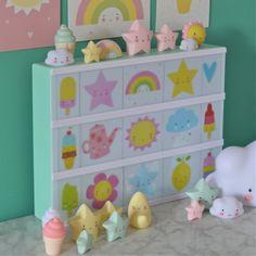 3 mini décorations étoiles jaunes A little lovely company - Deco Graphic