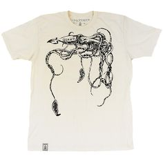 The Giant Squid: Men's Organic Fine Jersey Short Sleeve T-Shirt in Unbleached Natural