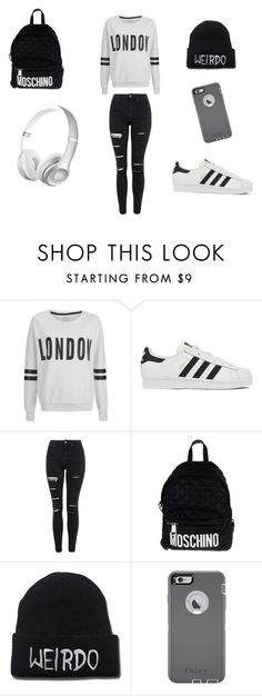 """Untitled #16"" by dianabarrera-1 on Polyvore featuring ONLY, adidas, Topshop, Moschino, OtterBox, women's clothing, women's fashion, women, female and woman"