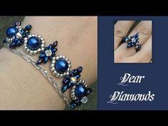 Beginners Bracelet Dear Diamonds *(4)* Beading Tutorial by HoneyBeads