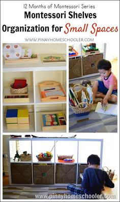 Montessori Shelves Organization for Small Spaces