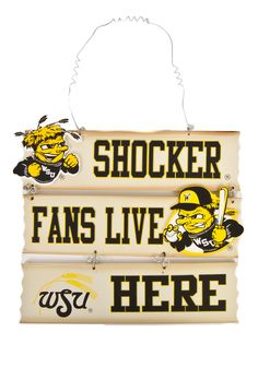 Wichita State Shockers Fan Hanging Sign