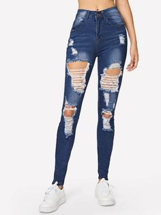 Ripped Bleach Wash Skinny Jeans – GaGodeal 2019 skinny jeans outfit su… Ripped Bleach Wash Skinny Jeans – GaGodeal 2019 skinny jeans outfit summer and skinny jeans outfit jeans and sandals outfit jeans and shirt outfit Outfit Jeans, Black Pants Outfit, Lässigen Jeans, Cargo Jeans, Casual Jeans, Denim Pants, Jeans Style, Cute Ripped Jeans Outfit, Women's Casual