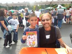 Michael with Richard J.Brenner another great writer and publisher at the Chappaqua Children's book festival 2013 . Cannot wait for another thrilling day 9/27/2014