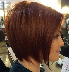 #2: Tapered Auburn Bob  Source Medium bob hairstyles with a tapered silhouette work best for fine and medium textured straight hair. It's better to pair such a chic haircut with a rich monochromatic hair color and style with root volume. Lovely, classy and feminine! PREV2 of 30NEXT