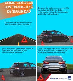 Los #triángulos de preseñalización de #peligro, son uno de los elementos de #seguridad al momento de sufrir un #incidente con tu #automóvil. Conoce la manera correcta de colocarlos. #AXAauto