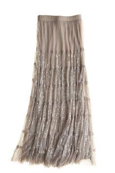 CHAN LUU Glitzy Tiered Skirt $350  http://hollyrotic.mybigcommerce.com/chan-luu-glitzy-tiered-skirt-350/
