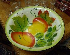 Vintage Enamelware Kitchen Bowl Mid by VintageAppleTreasure, $18.00