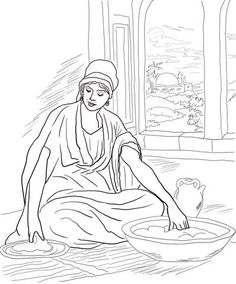 Parable of the Two Debtors coloring page from Jesus parables